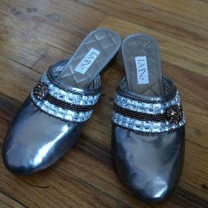 "LMN ""bronze luxe"" luxury slippers"
